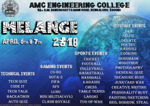 Melange 2K18 – AMC College fest