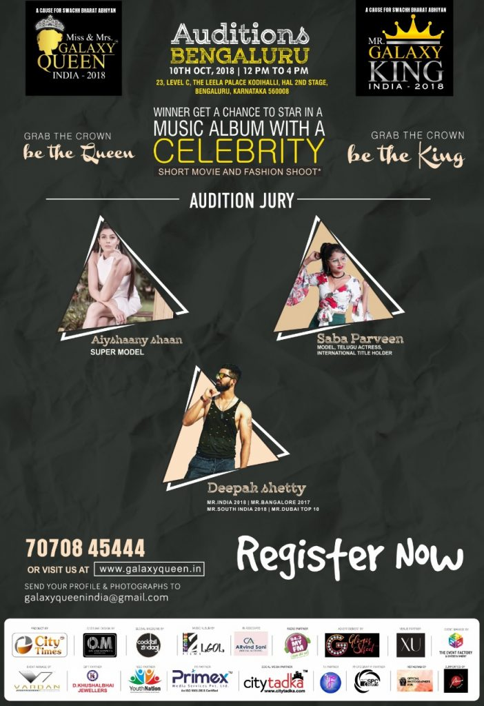 Ms & Mrs Galaxy Queen india and Mr Galaxy King India 2018